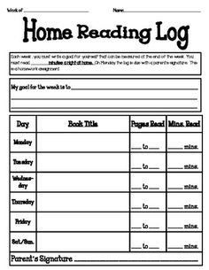 Free printable reading logs for upper elementary, middle school or ...