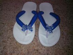 Sandalias decoradas...