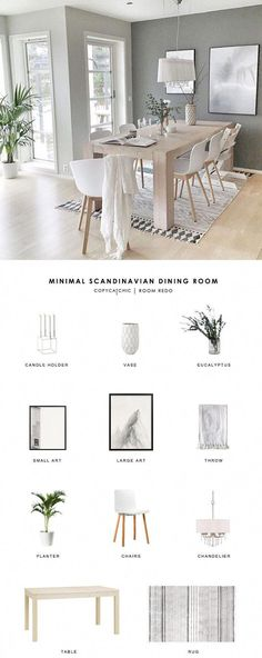 A gray minimalist, Scandinavian dining room gets recreated for less by copycatchic luxe living for less budget home decor & design room redos look for less room design gray Copy Cat Chic Room Redo Small Living Rooms, Living Room Grey, Living Room Decor, Scandi Living Room, Decor Room, Room Decorations, Bedroom Decor, Design Room, Dining Room Design