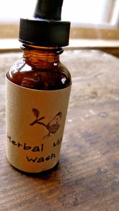 Holistic Dental Health and Homemade Mouthwash - tinctures of echinacea, Oregon grape root, plantain & propolis