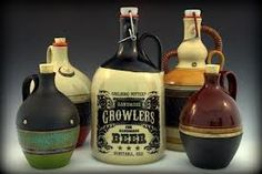 Carlburg Pottery's ceramic beer growlers