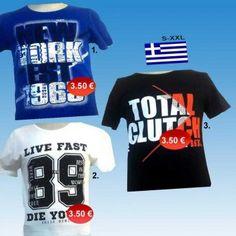 d412fa49b8dc Ανδρικές μπλούζες κοντομάνικες βαμβακερές με στάμπα Ελληνικής ραφής Μεγέθη  S-XXXL σε 3 χρώματα