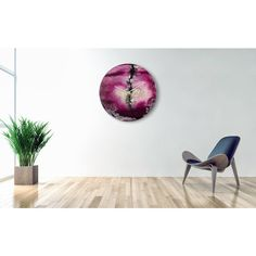 Modern Wall sculpture, Large Purple Clock, Kitchen Clock, Purple Wall... ($1,093) ❤ liked on Polyvore featuring home and home decor