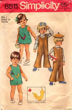 1970s Simplicity 8811 Vintage Sewing Pattern by midvalecottage