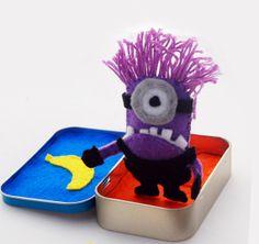 Cute Little Pocket Evil Minion Felt Doll by PinkAppleKawaii, $3.99