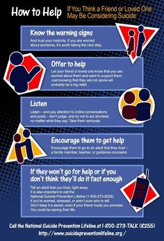 How to help someone who may be suicidal.