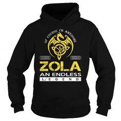 I Love ZOLA An Endless Legend (Dragon) - Last Name, Surname T-Shirt T shirts