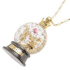 Mickey & Minnie snow globe necklace. I <3 this!!