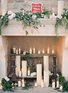 Romantic fireplace: http://www.stylemepretty.com/2014/07/17/al-fresco-elegance-at-cal-a-vie/ | Photography: Jose Villa - http://josevillaphoto.com/