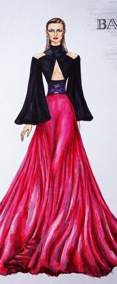Balmain Fashion Illustration