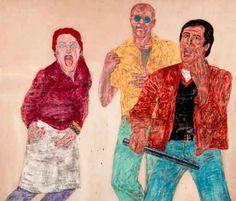 Leon Golub Riot II painting 1983