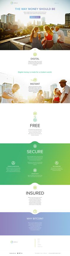Love the colours and the transitions between the sections. Great #webdesign