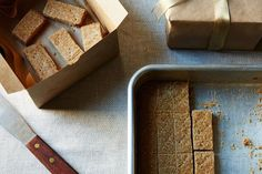 Gift idea: Cinnamon and Rye Shortbread. It travels well and the rye flour & healthy dose of cinnamon take a traditional shortbread to the next level, making it perfect for a gift.