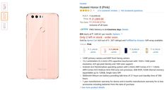 Huawei Honor 8 Pink in Stock on Amazon India - Lowest Price Online   FlipHotDeals