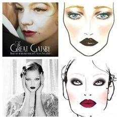 gran gatsby make-up - Buscar con Google