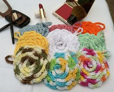Spa Quality Crochet Cotton Face Scrubbies 100 by FromTheHeartBySue, $2.75