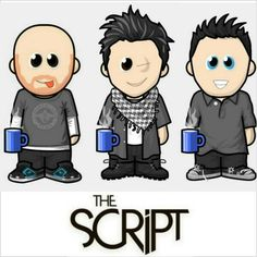 The Script with their tea cup!