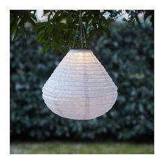 IKEA SOLVINDEN LED solar-powered pendant lamp White 45 cm Helping you save energy and reduce your environmental impact because it is powered by a solar. Ikea Outdoor, Outdoor Spaces, Ikea New, Light My Fire, Solar Led, White Art, White White, Light Decorations, Solar Panels
