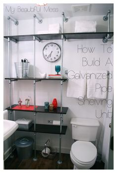 How To Build A Galvanized Pipe Shelving Unit with My Beautiful Mess