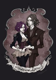 Tonks and Lupin by IrenHorrors on DeviantArt