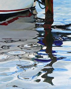 Sea Painting - Water Reflections 2 by Sandra Bellestri