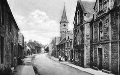 Old photograph of Earlsferry village, East Neuk of Fife, Scotland