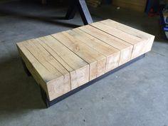 Detailfoto van maatwerk salontafel deze is gemaakt van 4 for Jordan wohnzimmertisch