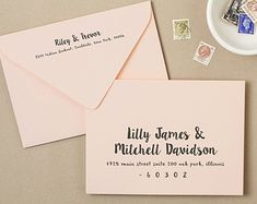Use Your Home Printer To Create Stunning Printed Envelopes These Envelope Templates Are A Savvy