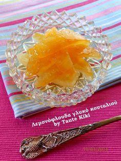 Tante Kiki: Λεμονόφλουδα γλυκό κουταλιού Greek Sweets, Greek Desserts, Greek Recipes, Sweets Recipes, Wine Recipes, Cooking Recipes, Honey Puffs, Greek Pastries, Mediterranean Recipes