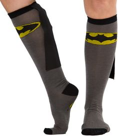 Superhero Socks with Capes - Batman, Robin, Superman and more available. $13    so capes are cool, no doube.  but capes on socks, it's interesting.  paying $13 to avoid sewing such a minimal amount? i think it'd rather sew or go without.