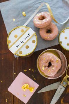 DIY Gold Leaf Donut