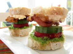 Trend Home Skillet Cooking Blog Cucumber Bacon Strawberry Mini Sandwiches with Fresh Pea
