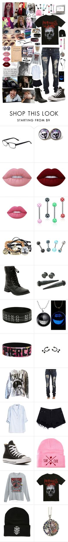 """""""College"""" by maryliz-roxie-teeter ❤ liked on Polyvore featuring cutekawaii, Lime Crime, Samsung, OUTRAGE, MANGO, Converse, Stay Cute, Floyd and Skullcandy"""