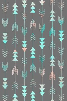 Design and colors could make a great tattoo - Aztec Arrows Art Print by Sunkissed Laughter Cute Backgrounds, Cute Wallpapers, Wallpaper Backgrounds, Iphone Wallpapers, Iphone Backgrounds, Arrow Art, Pretty Patterns, Cool Wallpaper, Aztec Phone Wallpaper