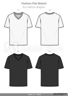 0cbc23923 OVER FIT Tee shirt FASHION FLAT SKETCHES technical drawings teck pack  Illustrator vector template