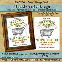 Printable Feedsack Logo - Olson's Sheep Feed