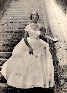 Jean Patchett in a gown by Ceil Chapman