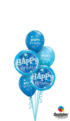 """Make any boy's day with this bouquet of """"Birthday Blue Sparkle"""" foils and matching Dark Blue and Robin's Egg Blue latex. Birthday Accessories, Boys Day, Happy Birthday Balloons, Blue Sparkles, Balloon Bouquet, First Birthdays, Party Supplies, Personalized Gifts, Banner"""