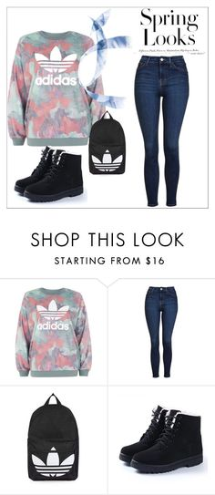 """""""Mersy Fashion"""" by mersy-123 ❤ liked on Polyvore featuring adidas, Topshop and H&M"""