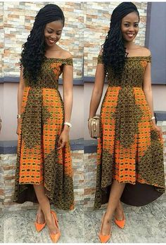 Nice Ankara dress ~African fashion, Ankara, kitenge, Kente, African prints, Senegal fashion, Kenya fashion, Nigerian fashion, Ghanaian fashion ~DKK