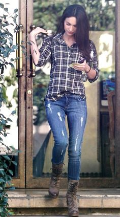 Celebrity Style: Megan Fox - Doll Actitud by Sabrina Fall Winter Outfits, Autumn Winter Fashion, Winter Style, Spring Outfits, Megan Fox Style, Megan Fox Casual, Looks Style, My Style, Girl Style