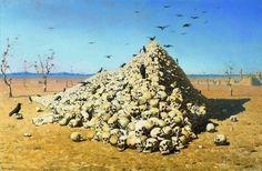"""The Apotheosis of War""   Vasily Vereshchagin. 1871, oil on canvas. State Tretyakov Gallery, Moscow."