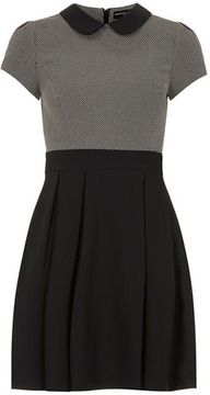 Dorothy Perkins Grey/black collar dress