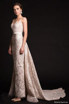 "Krikor Jabotian ""The Last Frühjahr"", F/S 2015 - Couture Lace Evening Dresses, Evening Gowns, Nice Dresses, Prom Dresses, 2015 Dresses, Illusion Neckline Wedding Dress, Illusion Dress, Bridal Gowns, Wedding Gowns"