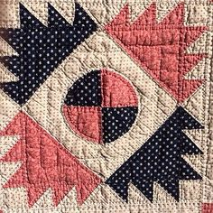 Detail, Antique Delectable Mountain Quilt 1800'S | eBay, whisper-hill