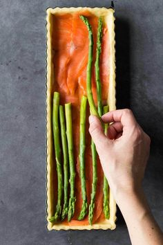 A Smoked Salmon Asparagus Quiche sure to make you fall in love with quiches once and for all. A healthy delicious lunch or dinner full of protein and flavor