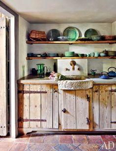 rustic+kitchen+glazed+ceramics+AD.jpg (462×600)