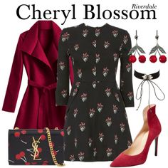 A fashion look from March 2018 featuring belted coats, pointy toe shoes and yves saint laurent purse. Browse and shop related looks. Cheryl Blossom Riverdale, Riverdale Cheryl, Riverdale Set, Veronica Lodge Fashion, Riverdale Fashion, Casual Cosplay, Office Outfits, Cute Outfits, Fashion Outfits