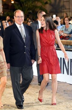 Charlotte Casiraghi and Prince Albert II at the Global Champions Tour in Monaco   June 25, 2016