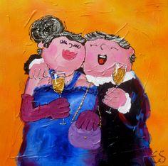 Dikke dames schilderij Art by Esther Gemser www.esthergemser.com